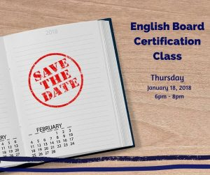 English Board Certification Class
