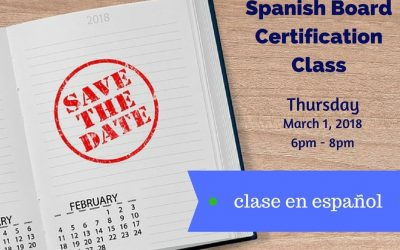 Spanish Board Certification Class