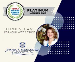 We Won FLCAJ Readers' Choice Platinum Award