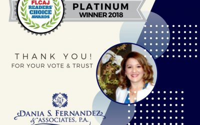 We Won FLCAJ Readers' Choice Platinum Award