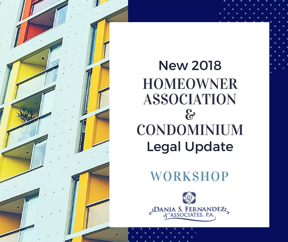 new florida condo legal update workshop