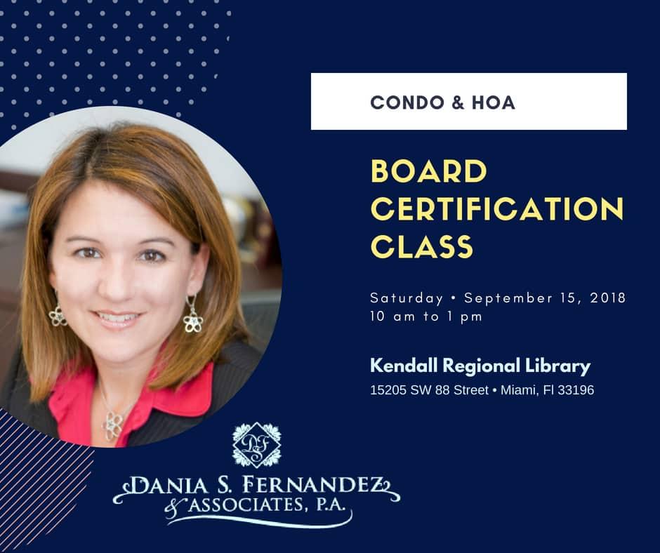 condo & hoa board certification class