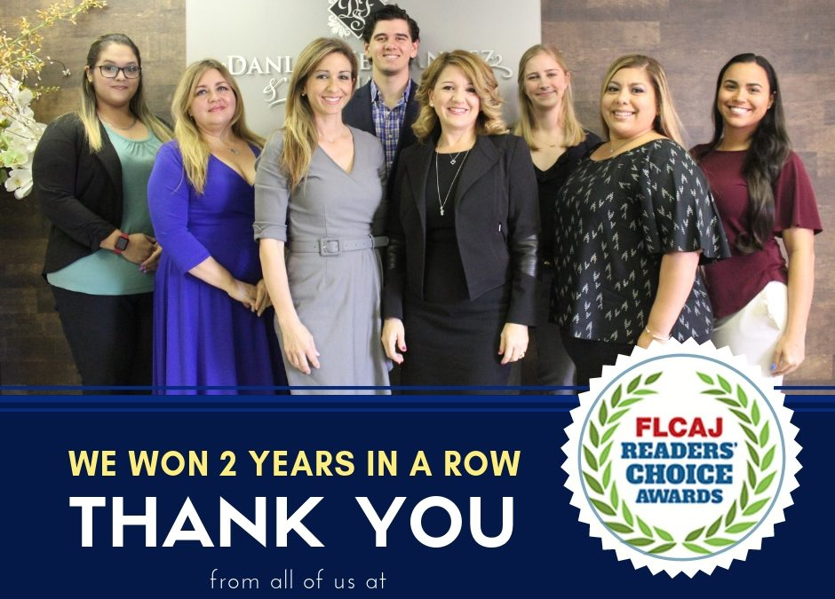 We Won FLCAJ Readers' Choice Platinum Award Again